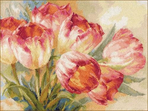 Тюльпаны 2-29 набор для вышивки Алиса (фото)