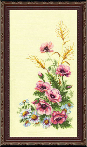 Триптих Полевые цветы (ЧМ-231)