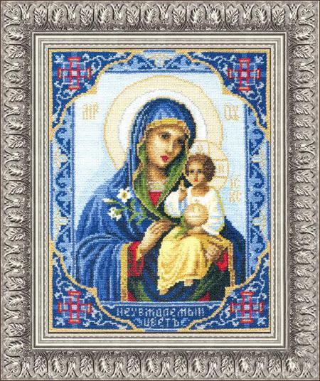 Неувядаемый цвет икона божьей матери вышивка