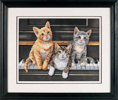 03225 meowsical trio набор для вышивки фото