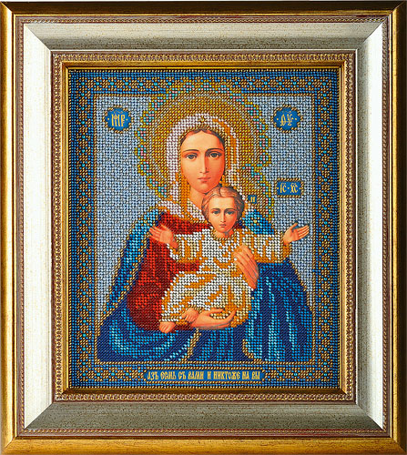 Бисера икона богородица леушинская в