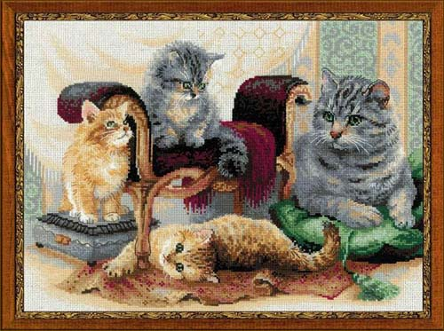 Вышивки крестом кошки фото 44